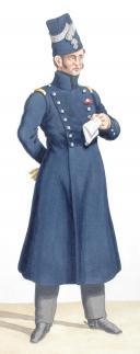 Photo 2 : 1830. Garde Royale. Grenadiers à Cheval (1er Régiment). Maréchal des Logis-Chef, Adjudant-Major.