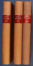 GAZETTE DES ARMES, n° 12 de janvier 1974 au n° 77 de décembre 1979.  (2)