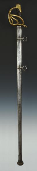 Photo 2 : SABRE DE CAVALERIE DE LIGNE, MODÈLE 1816, RESTAURATION.