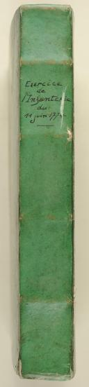 INSTRUCTION que le Roi a fait expédier pour régler provisoirement l'exercice de ses troupes d'infanterie du 11juin 1774.  (2)