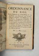 Photo 7 : Ordonnances du Roi