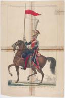 Photo 1 : MARTINET : LANCIER DU 1ER RÉGIMENT DES LANCIERS POLONAIS DE LA GARDE IMPÉRIALE 1806 À 1814, DEVENU LANCIER DE L' EX-GARDE , 1814, PREMIÈRE RESTAURATION.