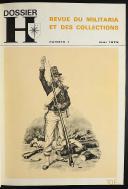 DOSSIER H : REVUES D'HISTOIRE MILITAIRE RELIÉES EN UN VOLUME, du n° 1 de mai 1975 au n° 13 de septembre 1976.  (1)