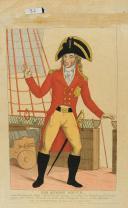 Photo 1 : GRAVURE EN COULEURS REPRÉSENTANT SIR SYDNEY SMITH, Révolution.