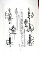 Photo 1 : FORTES-ÉPÉES DES 2 COMPAGNIES DE MOUSQUETAIRES DE 1759 À 1776; planche 1, TOME VII, 1er fascicule 1968.