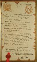 Photo 2 : NAPOLÉON BONAPARTE, FACSIMILÉ DU TESTAMENT DE L'EMPEREUR LE 16 AVRIL 1821, PREMIER EMPIRE.
