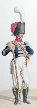 Photo 2 : 1820. Légions Départentales. Tambour-Major (48e Légion - de la Manche), Adjudant Sous-Officier (86e Légion - de l'Yonne).