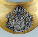 Photo 2 : HAUSSE-COL D'OFFICIER D'INFANTERIE, modèle 1814, officialisé par ordonnance du 23 septembre 1815, confirmé dans le réglement de 1817, Restauration.