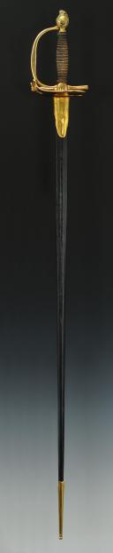 ÉPÉE D'UNIFORME D'OFFICIER DES TROUPES À PIED, AU RÈGLEMENT DU 1er OCTOBRE 1786, FIN XVIII° siècle. (11)
