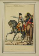 Photo 1 : MARTINET : « TROUPES FRANÇAISES », GRAVURE EN COULEURS, NAPOLÉON Ier ET SES MARÉCHAUX, PREMIER EMPIRE.