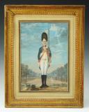 Photo 1 : FEYERABEND FRANTZ : AQUARELLE GOUACHÉE, GRENADIER D'INFANTERIE 1774, ANCIENNE MONARCHIE.