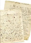 Photo 1 : LETTRES DE JEAN GACHET, du siège de Dantzig le 18 mai 1807 et de Breslau le 17 juillet 1808.