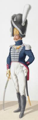1818. Garde Royale. Infanterie (4e Régiment), Capitaine de Voltigeurs, Lieutenant des grenadiers. (2)