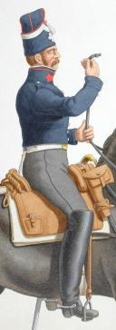 """Photo 2 : 1820. Garde Royale. Cuirassiers (1er Régiment). """" Ajustez vos rênes """"."""