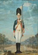 Photo 2 : FEYERABEND FRANTZ : AQUARELLE GOUACHÉE, GRENADIER D'INFANTERIE 1774, ANCIENNE MONARCHIE.