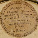Photo 3 : HAUSSE-COL D'OFFICIER DU 57ème RÉGIMENT D'INFANTERIE DE LIGNE, MODÈLE 1814, RESTAURATION.