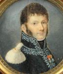 Photo 3 : GÉNÉRAL DE GENDARMERIE, MINIATURE SUR IVOIRE, PREMIER EMPIRE.
