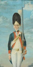 Photo 3 : FEYERABEND FRANTZ : AQUARELLE GOUACHÉE, GRENADIER D'INFANTERIE 1774, ANCIENNE MONARCHIE.