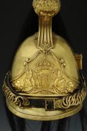 Photo 3 : CASQUE DES DRAGONS DE LA GARDE IMPÉRIALE, modèle 1856, DIT « DRAGONS DE L'IMPÉRATRICE », Second Empire.