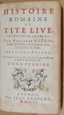 """GUERIN - """" Histoire romaine de Tite Live """" - 1 Tome - Collection militaire - Août 1918"""