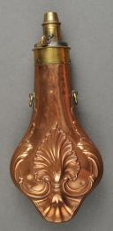 Photo 1 : English powder flask, 19th century.