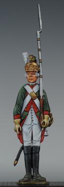 """Photo 1 : FIGURINE DEMI-RONDE BOSSE DRAGON 1786 DU RÉGIMENT """"LORRAINE""""."""