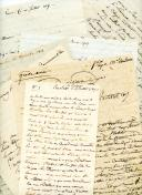 8 LETTRES DE L'OFFICIER SAINT-JULIEN À SA MÈRE ET À SA FEMME, 1807-1809.