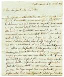 Armée du Nord. LETTRE DE L'OFFICIER D'INFANTERIE ANTOINE (ou Antonin) PAROT, lors de la campagne de 1806 depuis Röttembach le 17 avril 1806, À SES PARENTS.