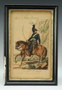 MARTINET, DOUANIER DE LA BRIGADE À CHEVAL, planche 188 du catalogue Martinet : Estampe couleurs , Premier Empire.