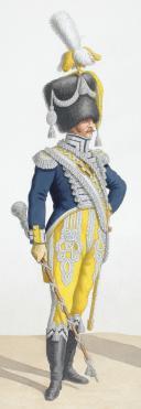 Photo 2 : 1818. Garde Royale. Infanterie (6e Régiment), Tambour-Major, Musicien.
