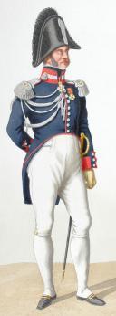 1820. Garde Royale. Cuirassiers (1er Régiment). Colonel, Maréchal des Logis-Chef. (2)