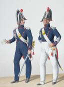 Photo 2 : 1824. Gendarmerie Royale de Paris. Gendarme à Cheval, Maréchal des Logis à Pied.