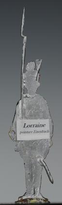 """Photo 2 : FIGURINE DEMI-RONDE BOSSE DRAGON 1786 DU RÉGIMENT """"LORRAINE""""."""