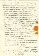 Photo 3 : LETTRE DU SOLDAT DETRICHET, du 1er régiment de Dragons Cisalpins 4ème compagnie en garnison à Milan, À SON PARRAIN ET SA MARRAINE, 26 messidor an 6 (14 juillet 1798).