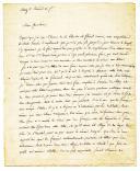 LETTRE DU SOLDAT CARETTE À SON PÈRE, receveur des rentes à Paris, 3 prairial an 7 (22 mai 1799).