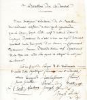 Chouannerie. CERTIFICAT DE BLESSURE PAR UN CHOUAN POUR JOSEPH POUILLÉ AU CANTONNEMENT DE VARENNES-BOURREAU, manuscrit et signé des Volontaires du 3ème Bataillon des Ardennes, Précigné 20 Vendémiaire An 3 (11 octobre 1794).