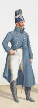 Photo 2 : 1818. Garde Royale. Infanterie. Officier(6e Régiment), Maître de Musique (5e Régiment).
