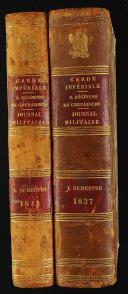 Photo 2 : GARDE IMPÉRIALE - 3. RÉGIMENT DE GRENADIERS - JOURNAL MILITAIRE -  8 volumes.