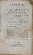 """BARBA - """" Histoire de Bonaparte """" - 1Tome - Troisième édition considérablement augmentée - Paris - 1802 (2)"""