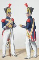 Photo 2 : 1830. Gendarmes Sédentaires. Maréchal des Logis, Gendarme.