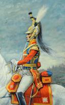 Photo 3 : LEVIER (Docteur) : HUILE SUR TOILE. MOUSQUETAIRE GRIS, 1ère COMPAGNIE, 1814, XXème siècle.