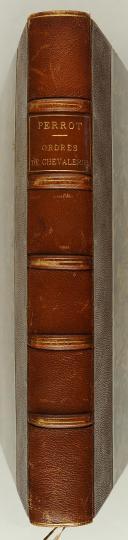 PERROT. Collection historique des ordres de chevalerie civils et militaires.  (4)