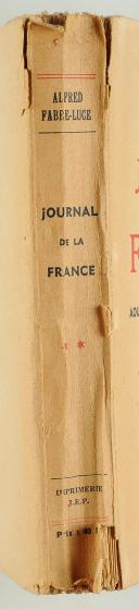 Photo 7 : JOURNAL DE LA FRANCE : AOÛT 1940 - AVRIL 1942, ALFRED FABRE-LUCE.