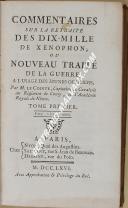 """LE COINTE - """" Commentaires sur la retraite des dix-mille de Xénophon """" - 1 Tome - Paris"""