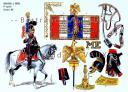 RIGO (ALBERT RIGONDAUD) : LE PLUMET PLANCHE 193 : CHASSEURS A CHEVAL 1er REGIMENT ETENDARD 1815.