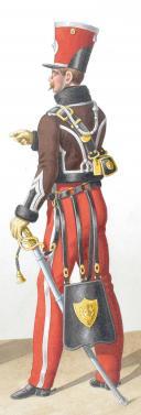 1822. Hussards. Maréchal des Logis-Fourrier, Lieutenant (2e Régiment - de la Meurthe). (2)