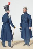 Photo 2 : 1830. Gendarmerie Sédentaire. Officier, Gendarme.