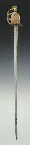 Photo 5 : SABRE DE RÉCOMPENSE, DIT « DES PAROISSES », modèle 1816, Restauration.