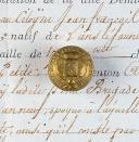 BOUTON DE L'ÉCOLE SPÉCIALE MILITAIRE, PETIT MODULE, RESTAURATION. (1)
