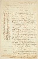 Photo 1 : LETTRE MANUSCRITE DATÉE DU 6 DÉCEMBRE 1836